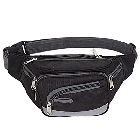 Tonsee® Sports de plein air sac à dos occasionnel bandoulière Sac à bandoulière Sac Chest (Noir)