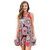 Damen Kleider Sommer Elegant Strand Knielang Party Frauen Mini Tank Kleid DOLDOA