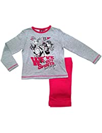 Kids Girls Pyjamas Official Monster High Long Pj's 2 Piece Childrens Size 3 To 10 Years