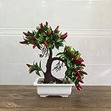 Myzixuan Simulazione di pianta in Vaso Decorazione di Simulazione Frutta dell'albero casa arredo Decorativi mobili Simulazione Fiore Set Techno Logia