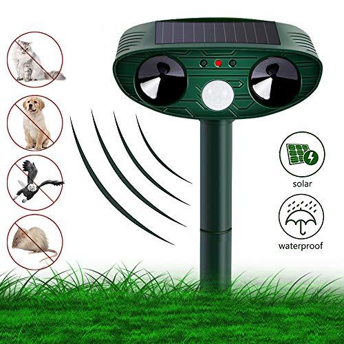 Vivibel Katzenschreck Ultraschall Solar, Wasser Tiervertreiber Ultraschall solar katzenschreck vogelabwehr hundeschreck, cat Repellent für Katzen, Hunde, Schädlinge, Marderabwehr