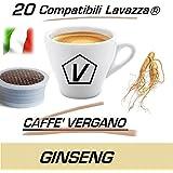 """Cápsulas Compatibles con Lavazza Espresso Point®, Cápsulas de Caffè Vergano Mezcla """"Ginseng"""" Línea Espresso - El Verdadero Caffé Italiano (20 Cápsulas)"""