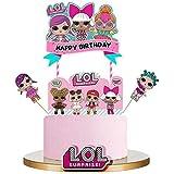 LOL Happy Birthday Cake Topper Cupcake Selecciones Decoración de la Torta de Dibujos Animados Kids Girls Birthday Party Suppl