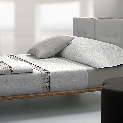 Tolrà TC023 - Juego de sábanas y funda de almohada, 3 piezas, tacto coral, para cama de 90 cm, color