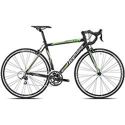 Legnano Ciclo 570 Lg36, Bici da Corsa Uomo, Nero/Verde, 59