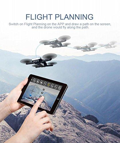 JJRC H47 ELFIE Plus Quadcopter 720P WIFI FPV Faltbare Selfie Drone Mit Gravity Sensor Kopfloser Modus Höhenhaltemodus RTF – Blau - 2