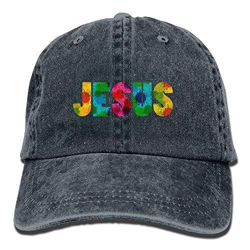 No Soy Como Tu Hüte,Kappen Mützen Colorful Christian Jesus Denim Hat Adjustable Female Plain Baseball Hat -
