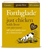 Forthglade Natural Dog Food Chicken Liver Menu 395 g (Pack of 18)