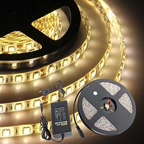 croled-striscia-led-bobina-5m-5050smd-300led-dc-12v-luce-bianco-caldo-impermeabile-adesivo-con-5a-al