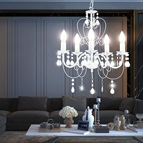 Kronleuchter Deckenlampe Lüster Hängelampe Beleuchtung Metall - 5