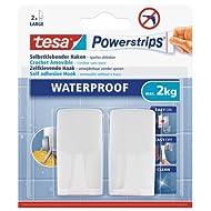 Tesa 59701-00000-02 Spar-Set 4x: tesa PS Waterproof Haken Wave weiß WEISS