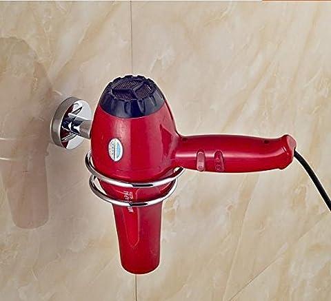 sdkky 304Edelstahl Haartrockner Rack und Badezimmer, Haartrockner Rack Wandregal Haartrockner Wand zugeben Rack Halterung 304 hair dryer support