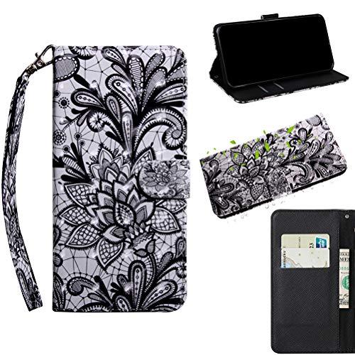 Jieheng Cover per Nokia 3.1 Plus/Nokia X3 3D Effetto Painted Custodia a Portafoglio in Pelle di qualità Premium Protettiva Flip Cover Leather Wallet Custodia con Kickstand Fuction