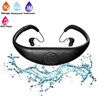 Tayogo Waterproof mp3 Player swimming, waterproof 8GB for Swimming Headset,sports headset, under Water Music Player
