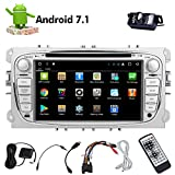 Freie hintere Kamera & Double 2din Android 7.1 Auto-DVD-Player in Dash Touchscreen Autoradio mit Navigation Auto GPS Stereo Bluetooth Doppel-DIN-Head Unit Octa-Core 32GB internen Speicher 4G Wifi Mirrorlink Headunit OBD2