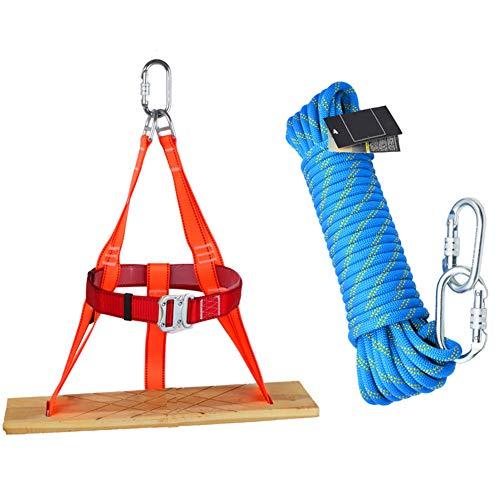 GJF Schaukel Seil Set, Luftarbeit Downhill Plattform Set, Outdoor Klettern Kreuz Camping Seil gebündelt, Familie Notfall Seil Set-rope70m -