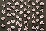 Hochzeitsdekorationen, Hochzeitsgirlande, Herzgirlande, Papiergirlande, für Babyparty, Brautparty, Pastellrosa