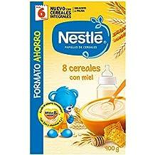 Nestlé Papillas - 8 cereales con Miel, a partir de 6 meses, ...