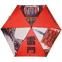 Hecho paraguas plegable paraguas UV corte Kaminarimon de Japón