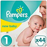 Pampers - New Baby - Couches Taille 1 ( 2-5 kg/Nouveau-Né) - Pack Small - Lot de 2 (x88 couches)