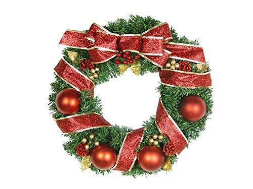 Band Weihnachten Garland Tür hängende Ornamente Zimmer Weihnachtsbaum Anhänger für Dekoration (rot) Außen Weihnachtsdeko