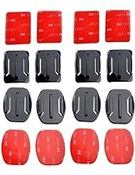 Adhésives plates de Curved + de Fotowelt Pour Gopro Hero 1/2/3/4 Camcorder Top Qualité