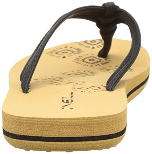 O'Neill Fg Ditsy Flip Flops, Chaussures de Plage et Piscine Fille Noir (Powder Whi)