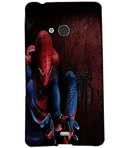 Fuson Spiderman Back Case Cover for NOKIA MICROSOFT LUMIA N540 - D3693