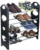 #5: Ebee Store 4 Layer 12 Pairs Shoe Rack