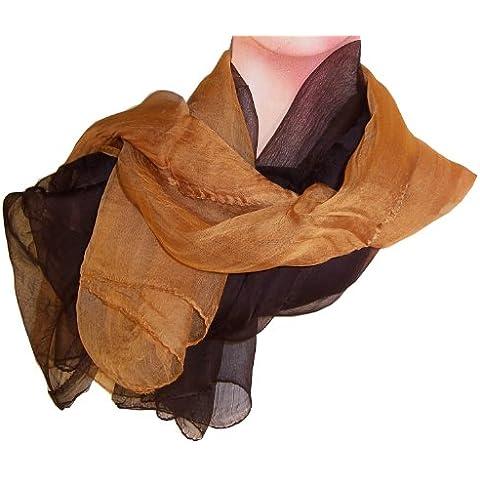 Pañuelo 2 Pack gasa de oro marrón y marrón oscuro paño universal 100 x 100 cm de viscosa accesorio