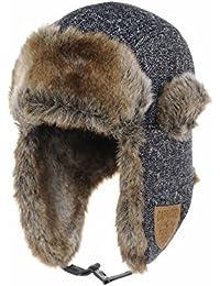 WITHMOONS Chapkas Herringbone Pattern Ear Flap Cap Trapper Hat Trooper CR7153
