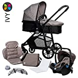 Kombikinderwagen 3 in 1, Kinderwagen, Travelsystem, Kinderwagen-Set