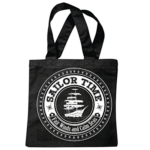 sac à bandoulière SAILOR TIME FAIRWINDS ET MERS CALM ANCRE SKULL PIRATE VOILIER VOILIER DIRECTION SKULL PIRATE SAILING Collektion SKULL CANCER DE DIRECTION BUCCANEER Segelschiff Sac école Turnbeutel