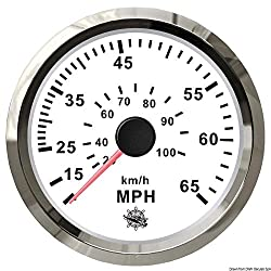 Pitot Speedometer 0-65 Mph Whiteglossy