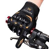 WOSAWE Guanti moto, MTB Mountain Bike guanti ciclismo completo, guanti invernali, BMX MX ATV guanti da corsa, mani calde in tempo freddo per le donne e gli uomini Taglia L