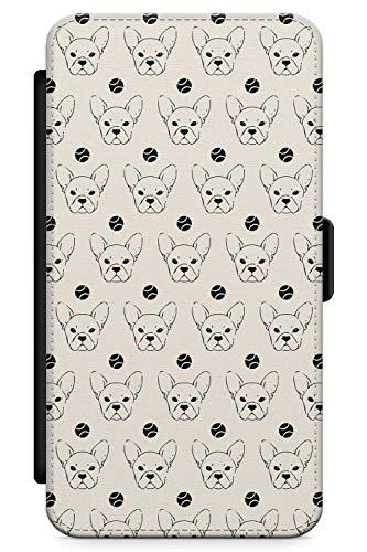 iPhone 7, iPhone 8 Case Französisch Bulldoggen-Liebe   Kunstleder Brieftasche Flip Card Slot Cover Kickstand   Tennis Ball Frenchie Geschenk Süss Doggo -