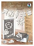 Ursus 40980005 - Paper Tags Vintage Holz Design Hell, gelasert in Verschiedenen Motiven, 5 Blatt mit 96-Teilig