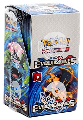 Evolutions Pokemon XY Mini Booster Box [18 Packs Castellano, Spanish]
