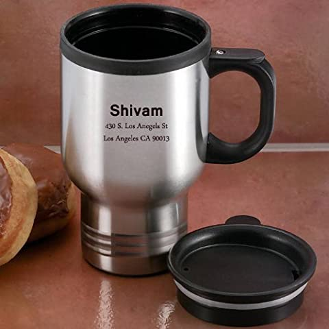 Personalized 14 oz Stainless Steel Travel Mug by