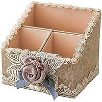 Preisvergleich für Nlj-YMS Desktop Aufbewahrungsbox Schminktisch Aufbewahrungsbox Beige 15cmX14cm