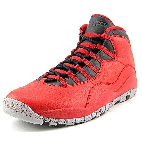Nike Air Jordan 10 Retro 30th, Chaussures de Sport Homme Rouge / Noir / Gris (Gym Rouge / Noir-Loup Gris)