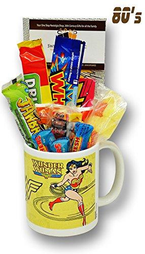 Wonder Woman Comic Mug with a Lush Selection of 80s Sweets