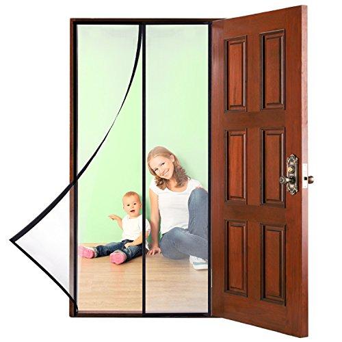 Groten Magnetisch Fliegengittertür Automatisch Türvorhang Schnappverschluss mit Klettverschluss Futter gesamten Rahmen
