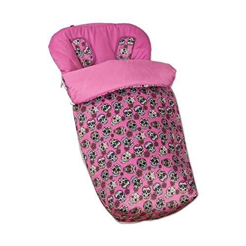 Babyline Lovely Skull - Saco de silla con manoplas