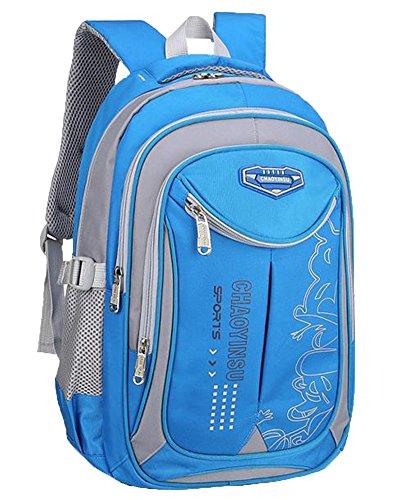 Schulrucksack Wasserdichter Jugendliche Rucksack Mit Der Großen Kapazität Schulrucksack Rucksäcke Himmelblau Groß