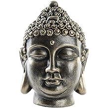 Figura de Cabeza de Buda de Resina Acabado Envejecido Zen Hogar y Más