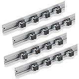 4x Gerätehalterleiste Aluminium 50cm | Gerätehalter | Werkzeughalter | Gartengeräte Halter