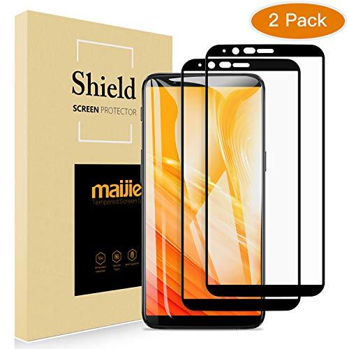 2 Stücke MAIJIE Panzerglas für OnePlus 5T, 2.5D Full Cover Schutzfolie Bildschirmschutzfolie mit 9H Härte hoher Empfindlichkeit Anti-Kratzen Blasenfrei