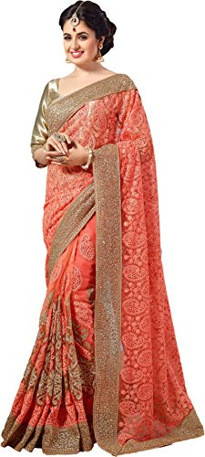 Jesti Designer Women's Georgette &Net saree for women New Collection 2018 with...