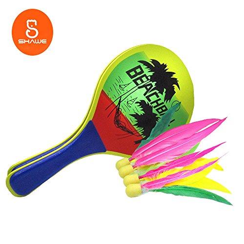 Badminton für Kinder, einfachste Schläger Spiel auf der ganzen Welt, am besten für Jungen ,Mädchen,Erwachsene- Indoor/Outdoor Paddle Spiel, Amazing Choice für Ausübung